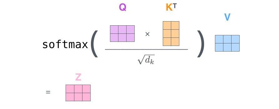self-attention矩阵形式2