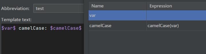 camelCase模板配置