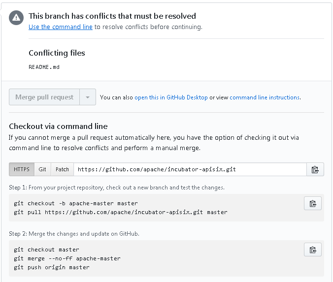 git conflicts