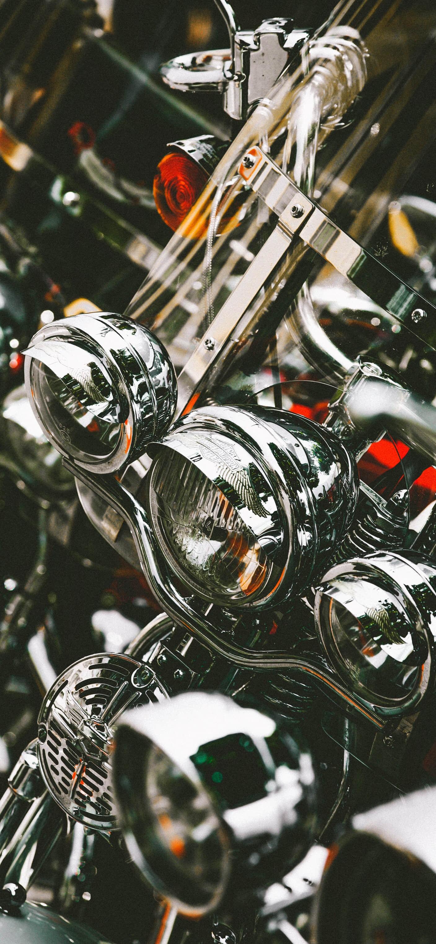 酷炫摩托车(Motorcycle)机车壁纸,图片尺寸:1407*3045