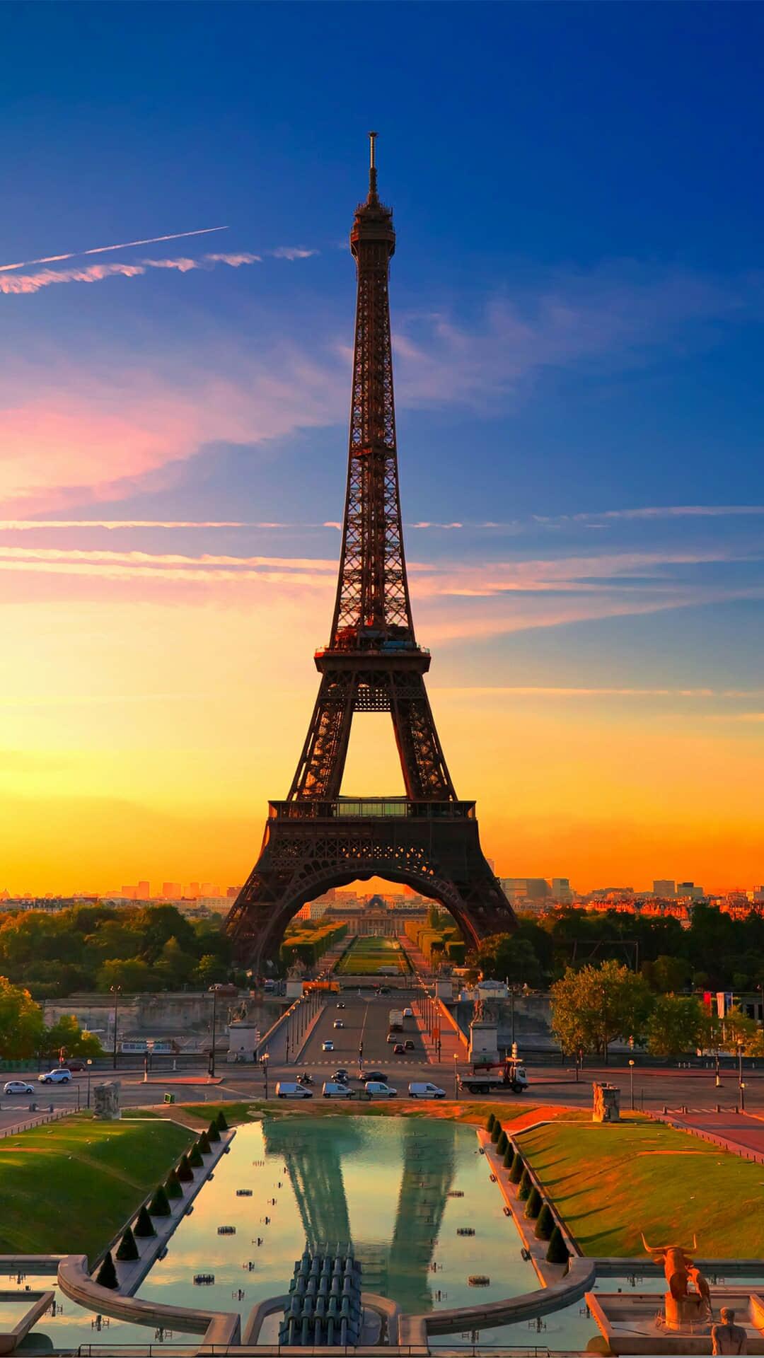浪漫巴黎埃菲尔铁塔高清手机壁纸