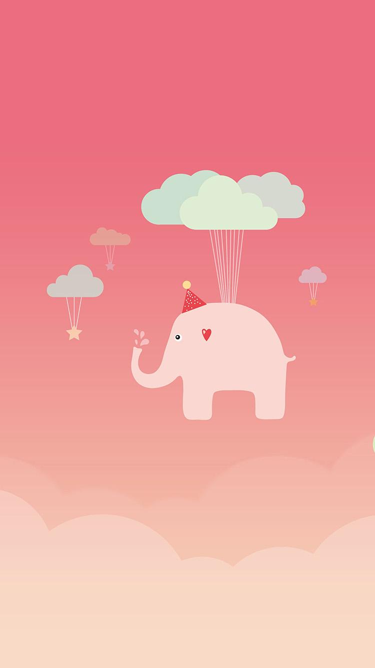 甜甜的粉色插画手机壁纸