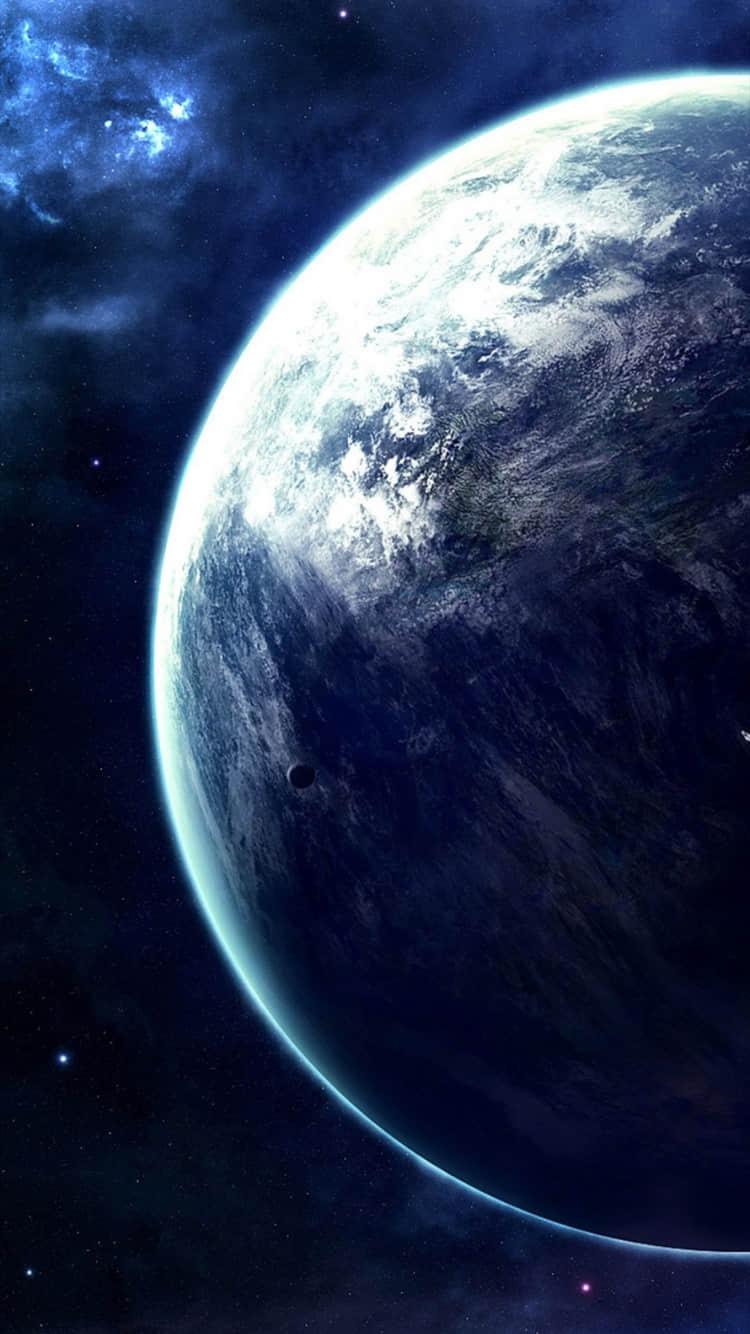蓝色宇宙星空高清手机壁纸