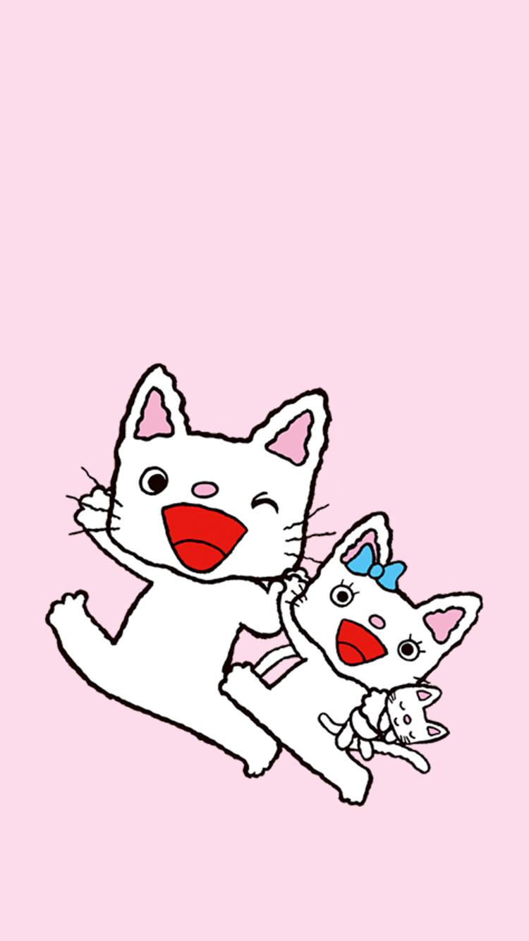 手绘可爱猫咪安卓手机壁纸,壁纸尺寸750*1334