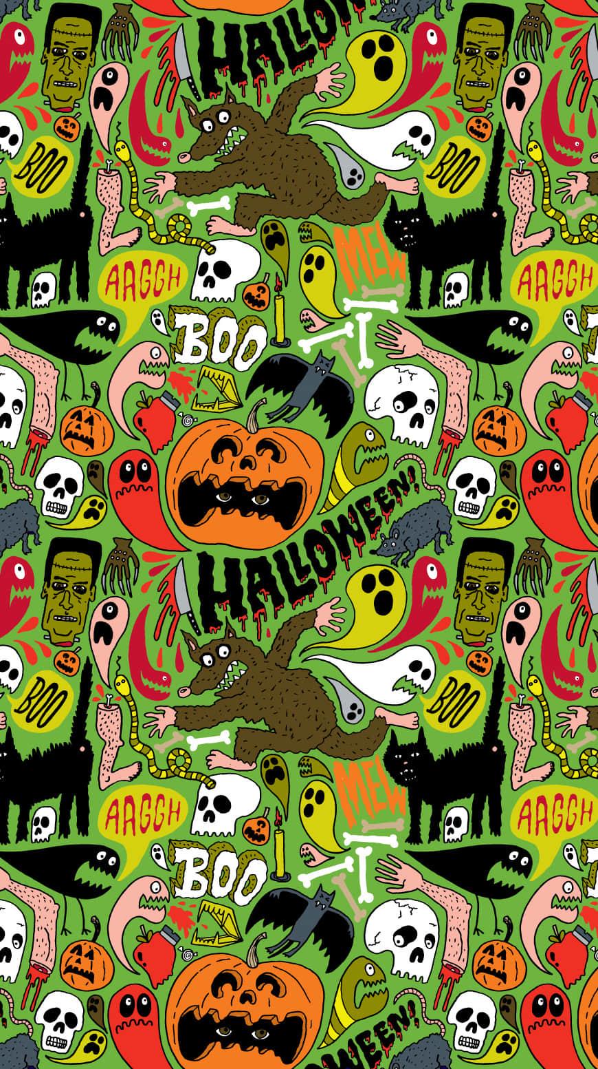 万圣节Halloween高清4K壁纸,壁纸尺寸870*1553