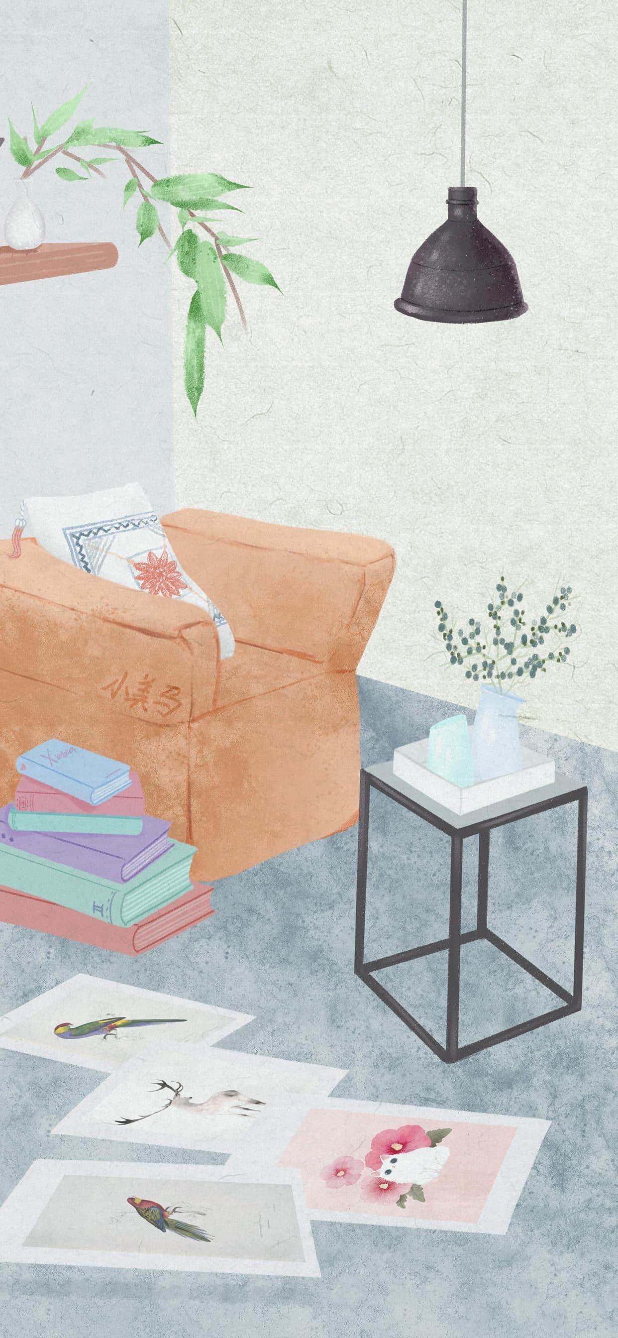 手绘家居风景高清壁纸
