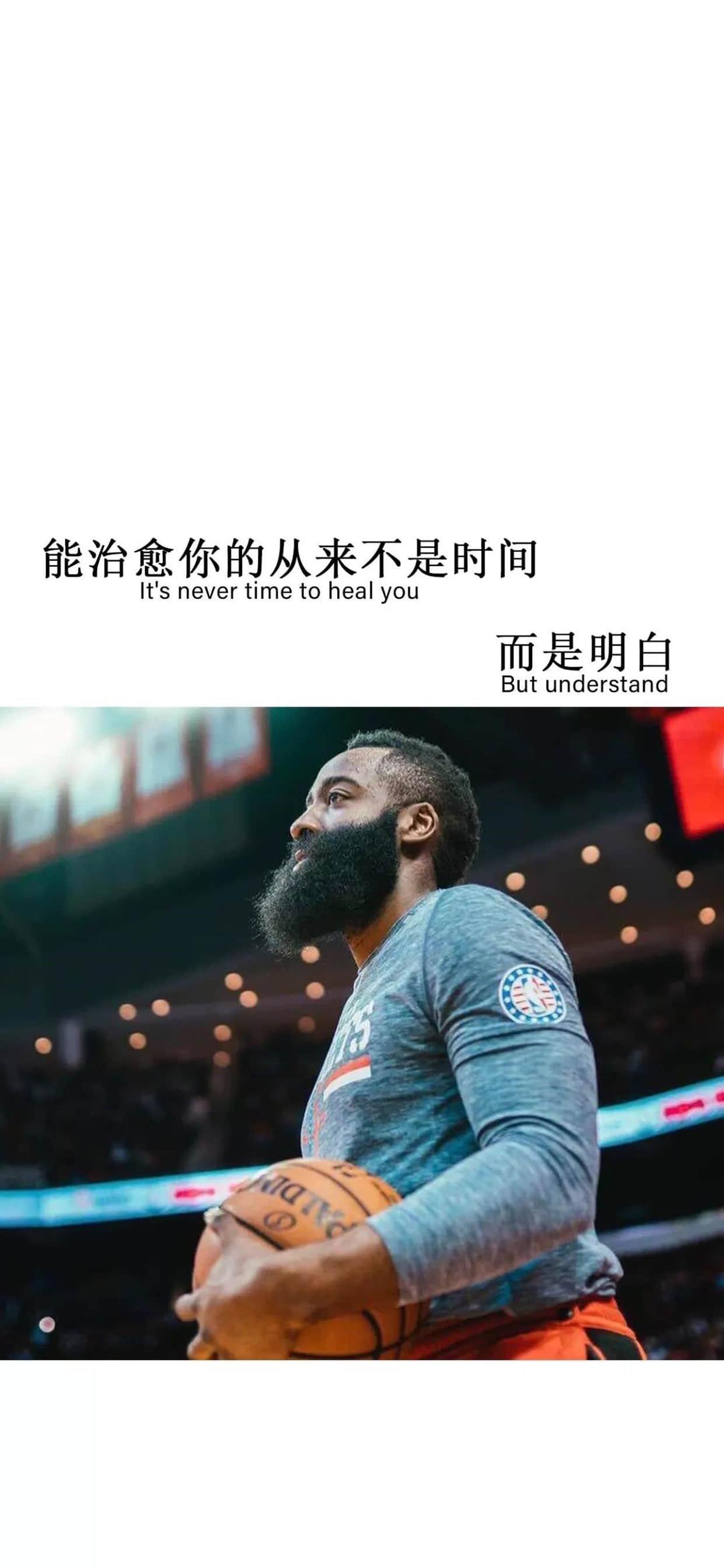 NBA篮球明星哈登励志文字高清手机壁纸【6P】