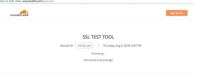 Cloudflare SSL Test Tool