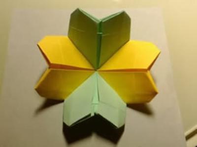 怎么折四叶草的方法用两张纸