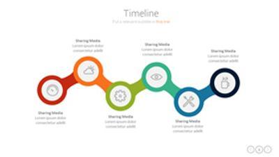 六项关联关系PPT图形素材