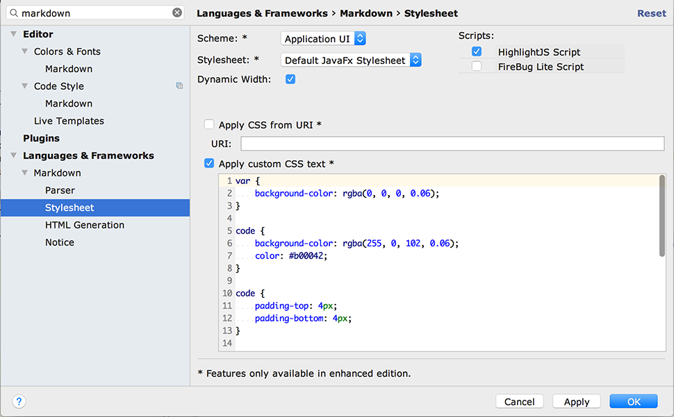 idea-multimarkdown: Markdown language support for IntelliJ IDEA