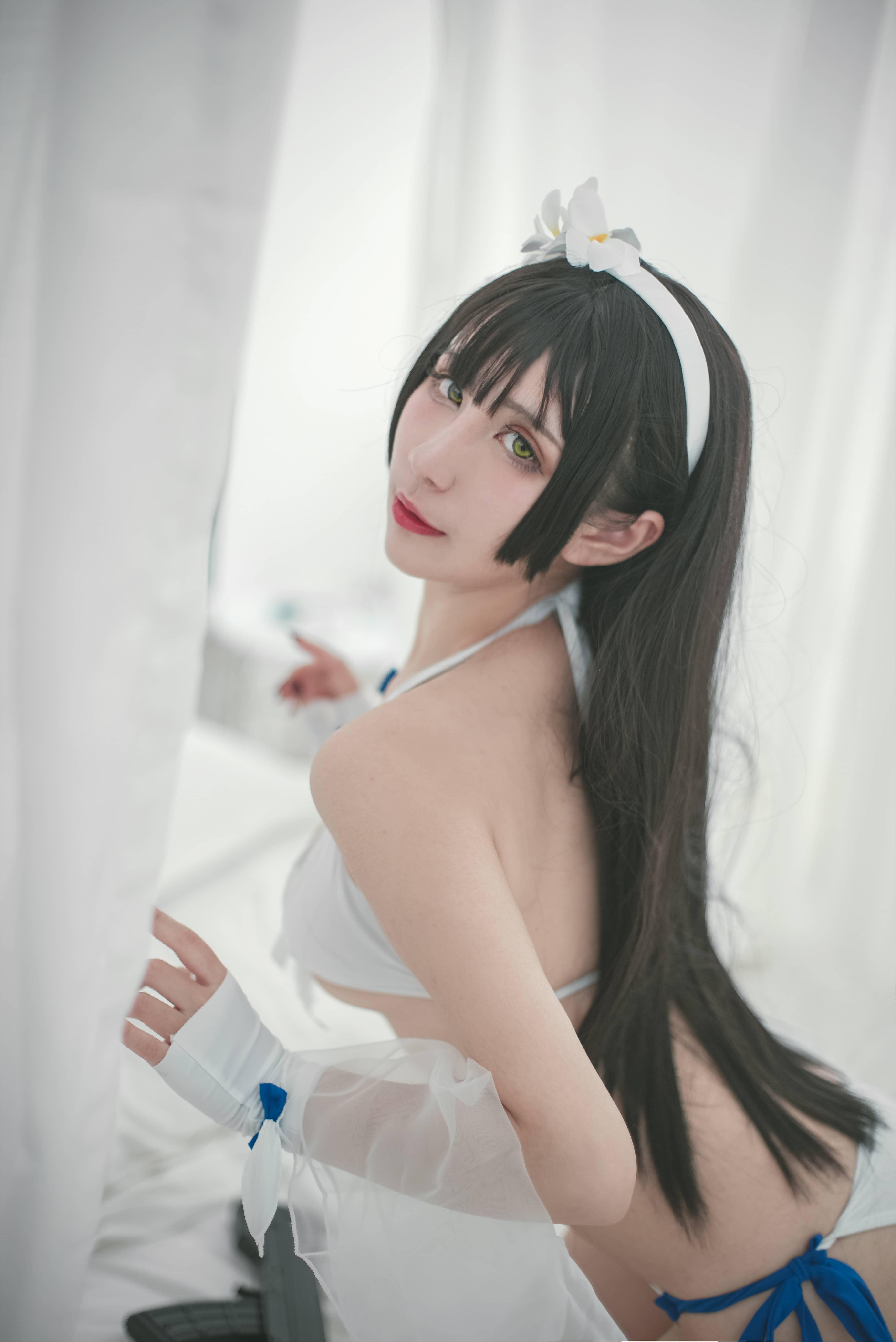 【九曲jean】cos《少女前线》95泳装电子本 次元美图