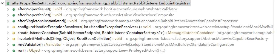 调用RabbitListenerEndpointRegistrar.afterPropertiesSet()的地方
