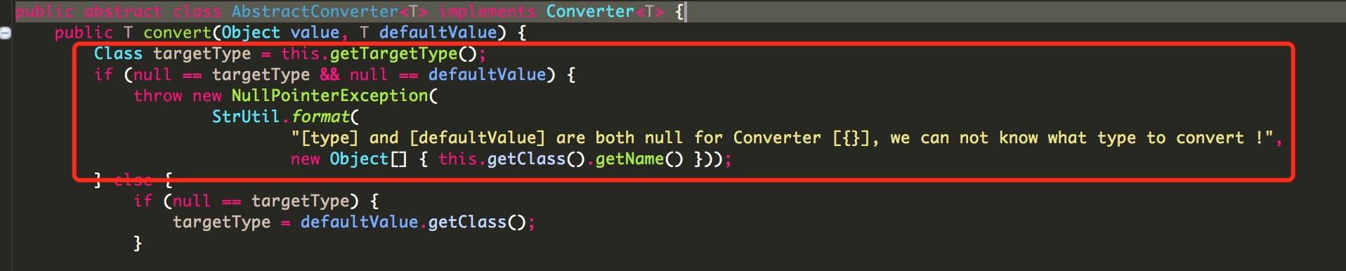 AbstractConverter.convert(Object value, T defaultValue)