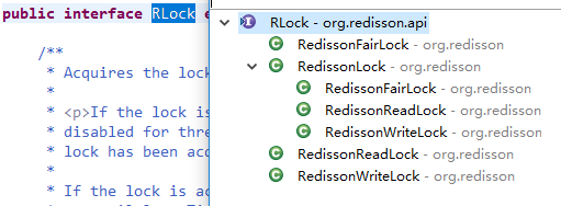 RLock接口实现类的代码结构